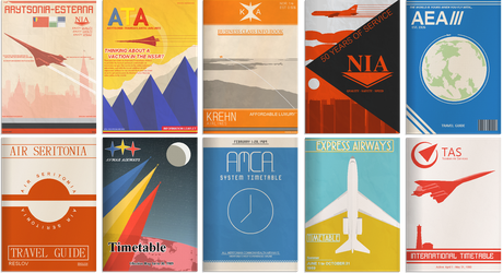 Retro Airline Leaflets by BlastWaves