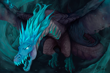 DOTA2 FANART WINTER WYVERN by giums