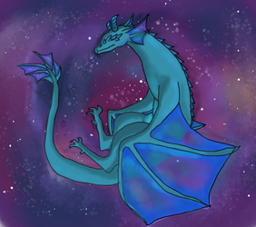 Space Dragon by chihiros-code