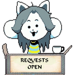 Temmie Requests Open Stamp by KiraxHuimang