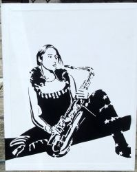 the saxophonist by T-freak