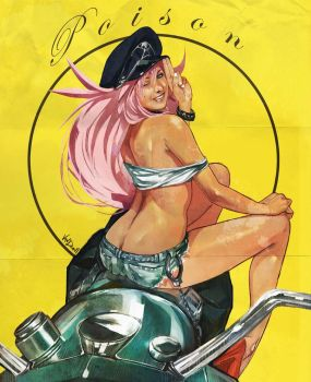Final fight Poison Pin up by Vandrell