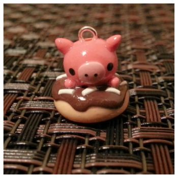 Piggy On a Doughnut! by MightySkittles