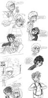 Dat Sketchy Human Tunes // Mostly Bugs and Daffy.. by vaness96