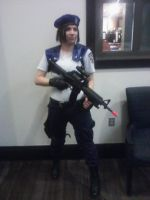 S.T.A.R.S. Jill with my M4 Assault Rifle by Steven-CodeBlack
