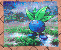 {Perler} Oddish in the Rain by OddishCrafts