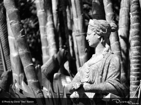 Black and White Stone Statue by Doverge