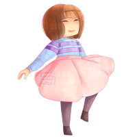 Ballerina Frisk by Forest-Ghosts