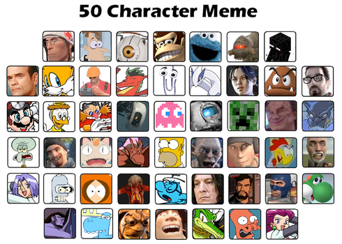 My 50 favorite Characters by Anneke174