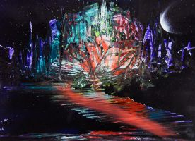 Spray paint abstract - Floating city by Airgone