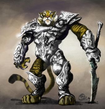 Tiger Warrior by Haridimus