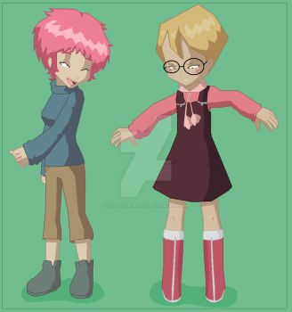 JeremiexAelita cross-dressing by codelyokofan92