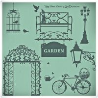 Romantic Vintage Garden High Res Photoshop Brushes by iCatchUrDream