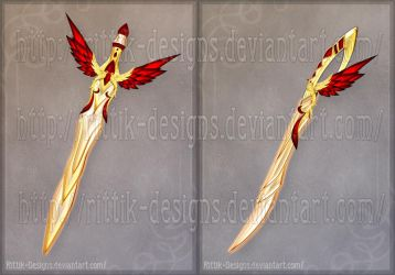 Flaming Bird Swords (CLOSED) by Rittik-Designs