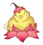 STICKER: Peaceful Lotus Canary by Brushfeather
