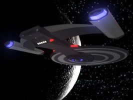 USS TITAN Prototype3 Cruising by thequestionmark