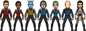 Crew of the U.S.S. Dauntless by SpiderTrekfan616