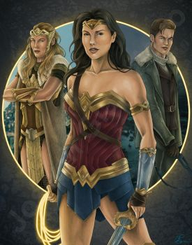 Wonder Woman Movie Poster by JGiampietro
