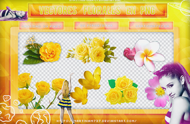 Vectores de flores by MartinaM737