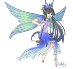 Fairy of July - Larkspur by Jinsky