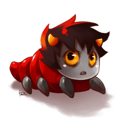 HS: Angry Red Grub by Anyarr