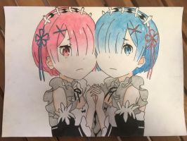 Ram and Rem  by FinalFlash199