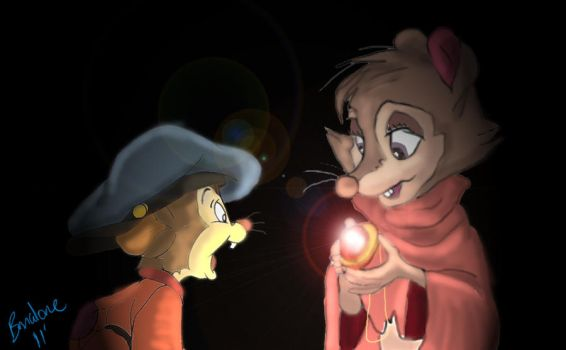 Mrs. Brisby and Fievel by The-B-Meister