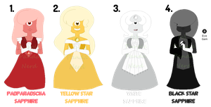 {SET PRICE} Sapphire Adoptables  - CLOSED - by DiamondFunds