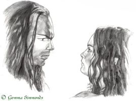 Elrond and Arwen. by The-Ebony-Phoenix