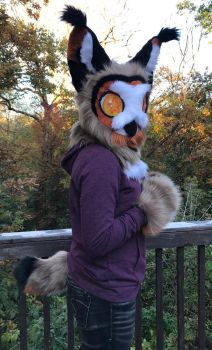 Great Horned Owl Gryphon Mini Partial by Ariokkii
