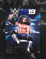 AJStyles - WWE2K18Poster by TheWrestlingVillain
