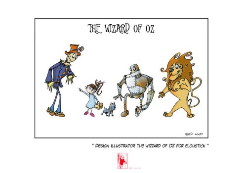 the wizzard of OZ for Eloustick by Vielo