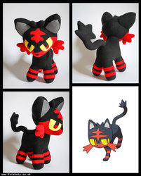 Pokemon: Litten Plush by Trinkety