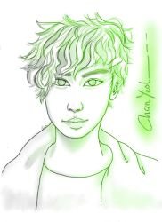 Green_Chan Yeol by Last-Sheep