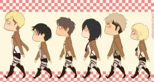 SNK : Love comes around and around by missrukia-chan7