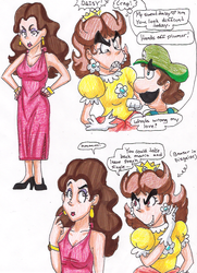 Pauline and Daisy doodles by Pauline-FanClub