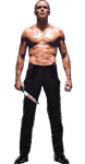 Mr Zsasz (Paul Bettany) Transparent background by gasa979