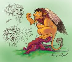 A manticore...again by GingerOpal