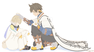 Sorey and Laphicet by Feather-Snake
