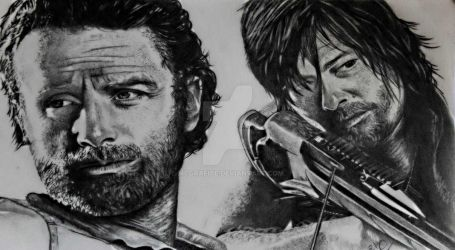 TWD Rick Grimes and Daryl Dixon by McGrafite