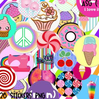 26 Stickers PNG (purchase for 10 points) by asweetgiirl