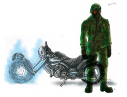 How I'd redesign Ghost Rider by LukeLlenroc
