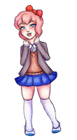 Glitchy Sayori gif by Asterbun