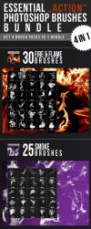 Essential Action Photoshop Brushes Bundle by nadaimages