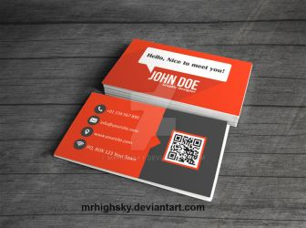 Orange and grey business card by MrHighsky