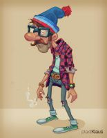 Hipster Hero: Ralph by plaidklaus