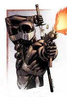 Snake Eyes bust by spidermanfan2099