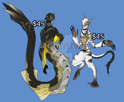Demon Monster adopts ( sold ) by GhosteKey