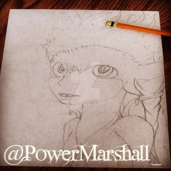 Doing a Midna Sketch. by PowerMarshall