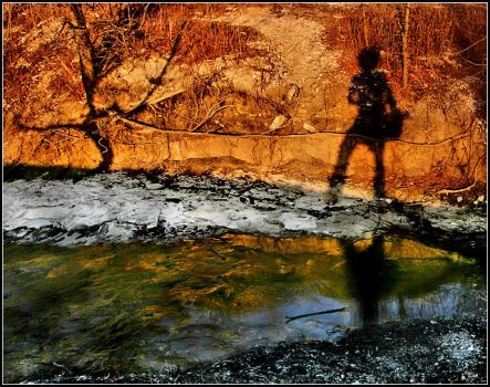 Reflection of my Shadow by justinblackphotos